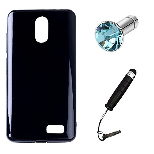 Lusee Silikon TPU Hülle für Leagoo Z7 5.0 Zoll Schutzhülle Case Protektiv Silicone Schwarz