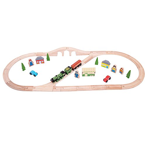 Bigjigs Rail Heritage Collection Flying Scotsman Train Set - 40 éléments de Jeu