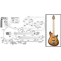 Plan d'une guitare électrique Peavey Wolfgang–Full Échelle d'impression
