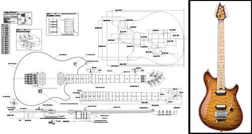 Plan de Una Peavey Wolfgang guitarra eléctrica-escala completa impresión