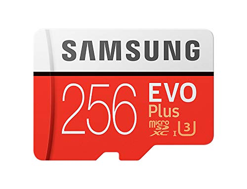 Samsung 256GB Evo Plus Class 10 UHS-I microSDXC U3 with Adapter (MB-MC256GA/APC)