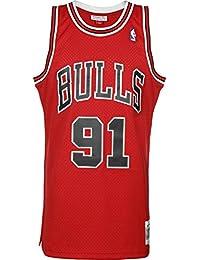 Mitchell   Ness NBA Chicago Bulls Dennis Rodman 91 1997-98 Retro Jersey  Swingman Oficial 5dd4514cb45