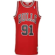 Mitchell & Ness NBA Chicago Bulls Dennis Rodman 91 1997-98 Retro Jersey Swingman Oficial