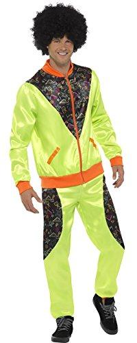 chamboolee - Glanz Jogger Jogginganzug 90er Jahre Kostüm im Sportoutfit für Herren Männer, M, Mehrfarbig