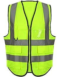 Islander Fashions High Visibility Exekutive Sicherheit Weste Herren Arbeitskleidung Reflektierende Hose S 5XL