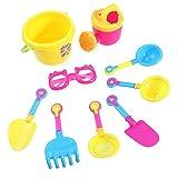 TOYMYTOY 9pcs playa cubo arena castillo juego juguete juego para niños (Color al azar herramientas)