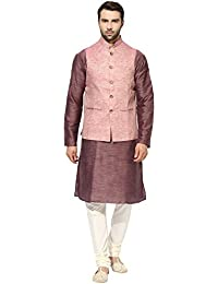 kisah Benarasi Cotton SilkWovenWaistCoat For Men's