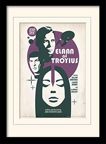 Star Trek Elaan de troyius montado y impresión enmarcada, multicolor, 30x 40cm
