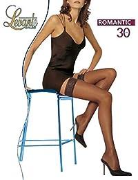 b915104ffa4f levante collant donna romantic 30 den calze autoreggenti calza autoreggente  con balza in pizzo