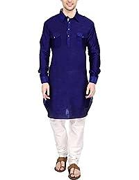 Royal Kurta Men's Silk Blend Pathani Kurta Churidar Set