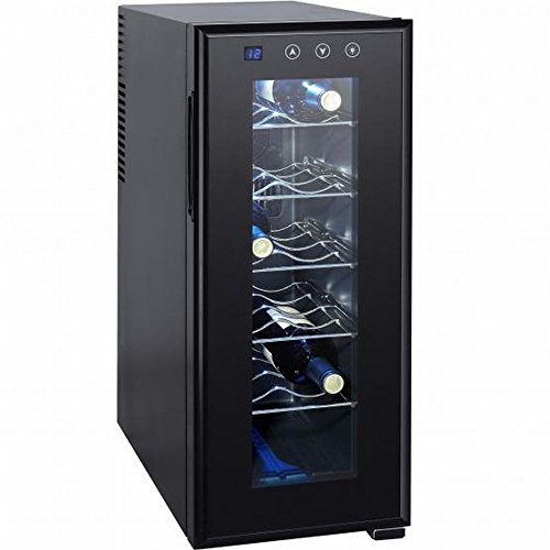 Syntrox - Frigorifero per vino, 12 bottiglie, con display LCD e touchscreen