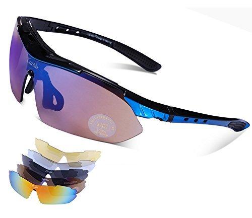 86aa58c908 Carfia TR90 UV400 Unisex Gafas de Sol Deportivas Polarizadas 5 Lentes de  Cambios Incluido para Deporte