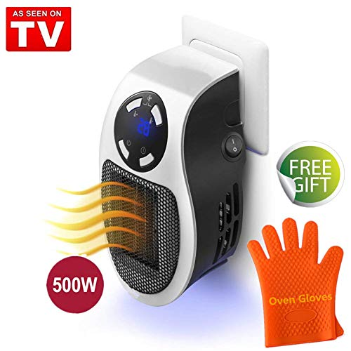 Mini Riscaldatore Portatile Heater, Stufa Elettrica a Presa a Muro con Display...