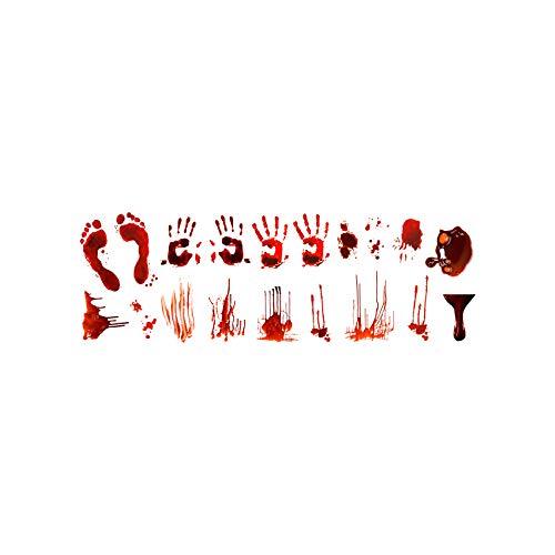Halloween Blut Handabdruck Aufkleber Horrortür Aufkleber Wanddekoration Graffiti Wandaufkleber