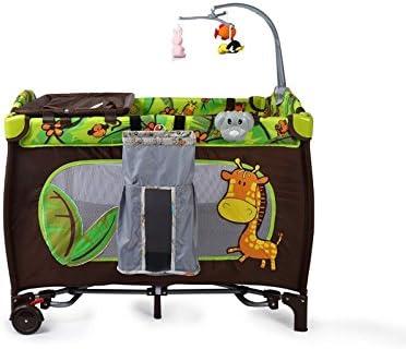 Miyare Mini cama cuna plegable cama de viaje Cute portable cautiva móvil preventiva hecha con el cambio de pañales