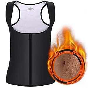 GRAT.UNIC Sauna Weste,Waist Trainer Shaper Vest,Sauna-Anzüge,Damen Sauna Weste,Herren Sauna Weste