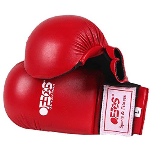 Ofbos Guanti Fit Karate Adulti e Bambini Guanti Fit Boxe Judo Arti Marziali Kick Boxing Grappling e Allenamento Realizzati Pelle Sintetica Karate