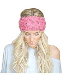 Bllomsem Da donna Caldo a maglia Cerchietto per capelli per gli sport  esterni Fascia per capelli c095c1d91e17