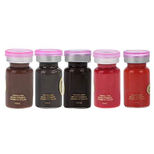 8ml / Flasche Tattoo Ink Set, Augenbraue Lip Tattoo Pigment Microblading Pigment Ink Makeup Art Pigment Tätowierfarbe für Augenbraue Eyeliner Lip Body(Orange Rot) (Lip Tattoos Kostenloser Versand)