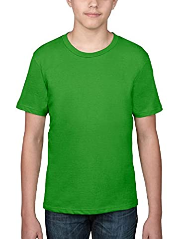 Anvil - T-shirt - Col ras du cou - Manches courtes Garçon - Vert - Grün (GAP-Green Apple) -9-11 Ans (Taille Fabricant:M)