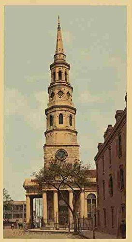 St Philips Church Charleston SC A3 Box Canvas Print