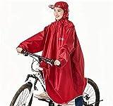 LULUDP Poncho pioggia Casco Maniche pioggia Poncho ciclo della bici impermeabile pioggia Capo for campeggio di sport esterni, Escursionismo, Pesca, Ciclismo - Fronte mezzo copertura rossa Set impermea
