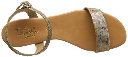 Initiale Torsade, Damen Sandalen Gold - Or (Cristal Taupe)