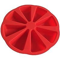 Seifenform Backform Silikonform mit 8 dreieckigen Hohlr/äumen Kuchenform Zuf/ällige Farbe Portionen-Form