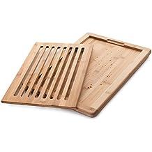 Lacor 60487 - Tabla de corte para pan, bambú, 40 x 30 x 2 cm