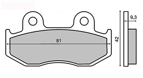 Coppia pastiglie scooter sh 125/150 anteriori Front brake pads scooter sh 125/150