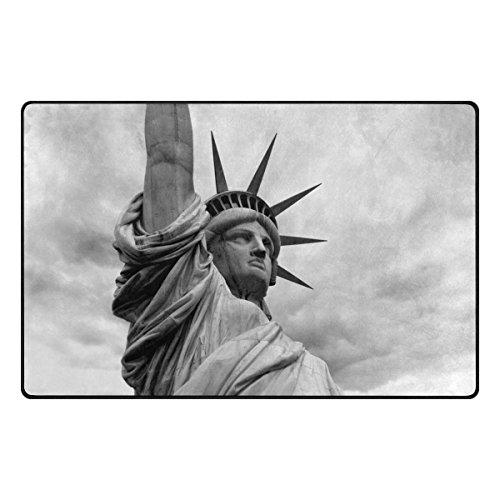 Benni giry Americana Estatua de la Libertad New York City Rango Alfombra antideslizante Diario de DF920felpudos para salón dormitorio 78,7x 50,8cm, poliéster, multicolor, 60 x 39 inch