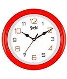 Ajanta - 2147 - RED Round Plastic Wall Clock (20.5 cm x 20.5 cm x 3.5 cm, Red)