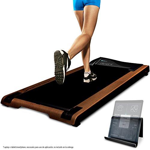 Cinta de correr DESKFIT DFT200 Office Desk Marrón oscuro (escritorio de oficina) Trabajo ergonómico y movimiento al mismo tiempo, sin dolor de espalda. Con soporte práctico para tablet, control remoto