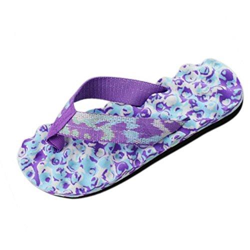 Rawdah - Zapatillas de estar por casa de goma eva para mujer morado morado