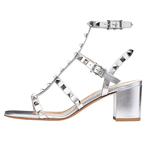 0271f5a26 Suchergebnisse. comfity. Comfity Sandals for Women,Rivets Studded Strappy  Block Heels Slingback ...