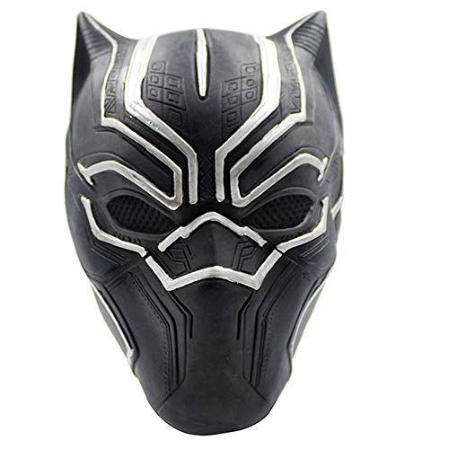 morningsilkwig Homme Schwarzer Panther Masque Cosplay Masque Enfants Halloween Parti Masques Guerre Civile Rôles Cosplay (S, Black)