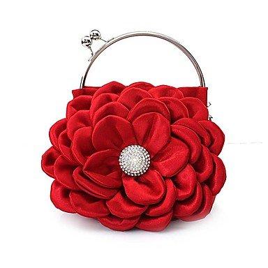 WZW Donna Poliestere / Chiffon Formale / Casual / Serata/evento / Matrimonio / Ufficio e lavoro / Shopping Borsa da sera . pink red