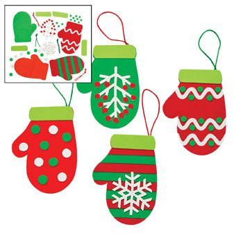 Christmas Mitten Ornament Craft Kit - Crafts for Kids & Ornament Crafts by Oriental Trading Company
