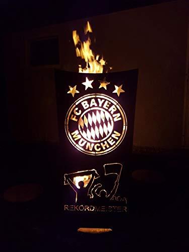 Tiko-Metalldesign FC Bayern (Rekordmeister) Feuerkorb/Feuertonne