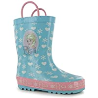 Kids Boys Girls Printed Pull Loops Wellies Shoes Boots (C8 (25.5), Disney Frozen)