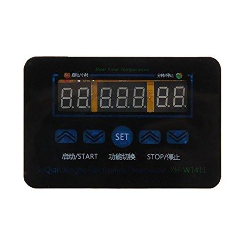 Homyl 12/220V 10A Digital LED Temperaturregler Steuerschalter + Sonde - Wechselstrom 220V -