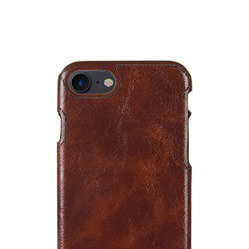 IPhone 8 Hülle, Valenth Crazy Horse Pattern Slim Fit Leichtes Gewicht Ultra Thin Soft TPU Hülle für iPhone 8 Braun