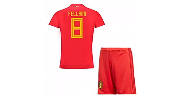 c916d6539 UKSoccershop 2018-19 Belgium Home Mini Kit (Marouane Fellaini 8)   Amazon.fr  Sports et Loisirs
