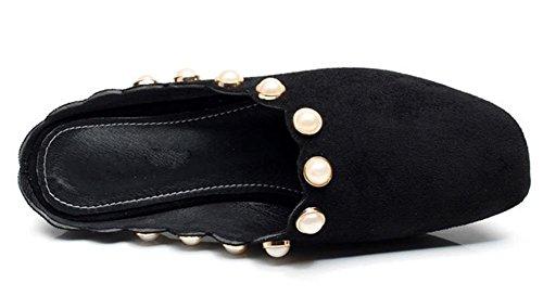 Frau Perlen Pantoffel Sommer Pantoffel Frauen beiläufigen weiblichen Drag Black