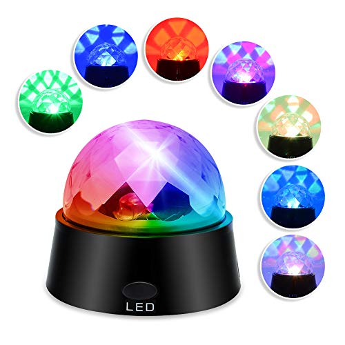 DXP RGB LED Discokugel Licht Stadion-Effekt Lichtprojektor Bühnenbeleuchtung Farbwechsel Nachtlicht-Lampe mit Projektion WeihnachtenHochzeiten Stadion Club Kristall Magic Ball Partylicht SKY19