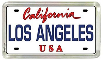 World By Shotglass Los Angeles California Nummernschild Acryl kleinen Kühlschrank Collector 's Souvenir Magnet 5,1 x 3,2 cm