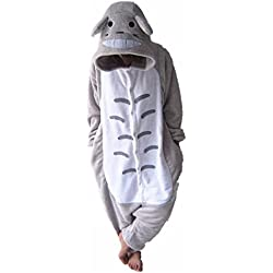 (Totoro, L fit for Height(170cm - 170cm )(UK FBA)) - WOWCOS Unisex Adult Pikachu Onesie Cosplay Costume Pyjamas Animal Kigurumi Halloween Xmas Gift