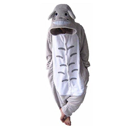 Kostüm Totoro Kigurumi - WOWcos® Unisex-Erwachsene Pikachu Einteiler Cosplay Kostüm Schlafanzüge Tier Kigurumi Halloween Weihnachts Geschenk Gr. Small, Totoro