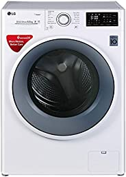 LG 6.5 kg Inverter Fully-Automatic Front Loading Washing Machine (FHT1065SNW, Blue and White, Inbuilt Heater)