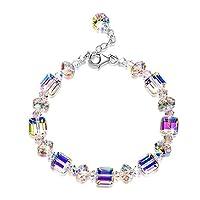 terferein S925 Sterling Silver Bracelet Czech Crystal Sugar Shape Bracelet For Women High Grade Charming